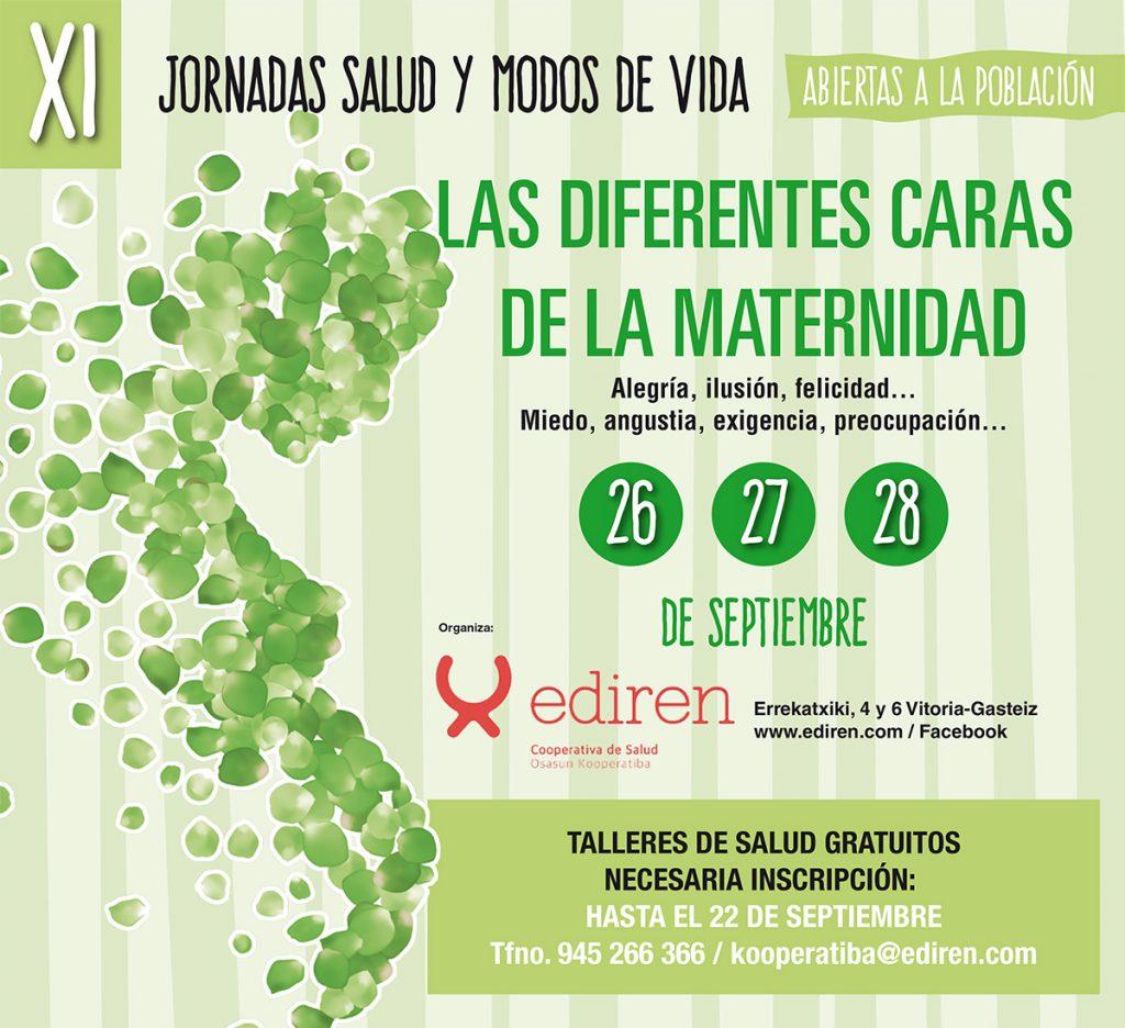 """XI Jornadas salud y modos de vida – """"Las diferentes caras de la maternidad"""" copia"""