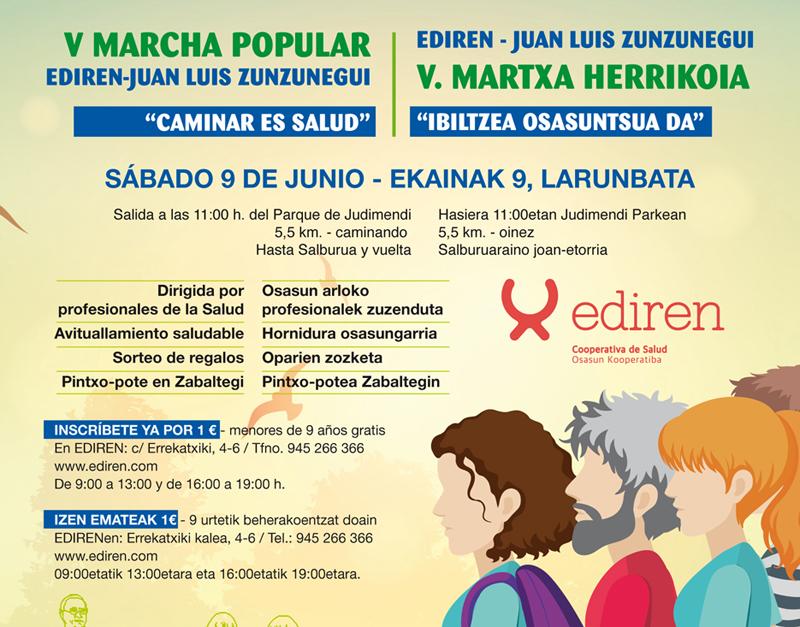 V Marcha Popular Ediren – Juan Luis Zunzunegui