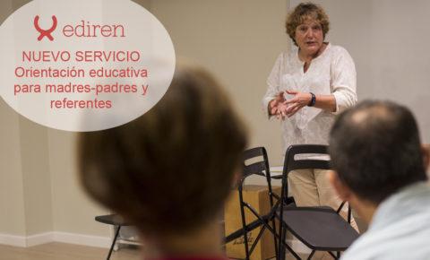 nuevo servicio de ediren de orientación educativa a madres, padres y referentes